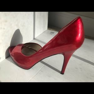 Carlos d'orsay pumps patent red Pretty 7M